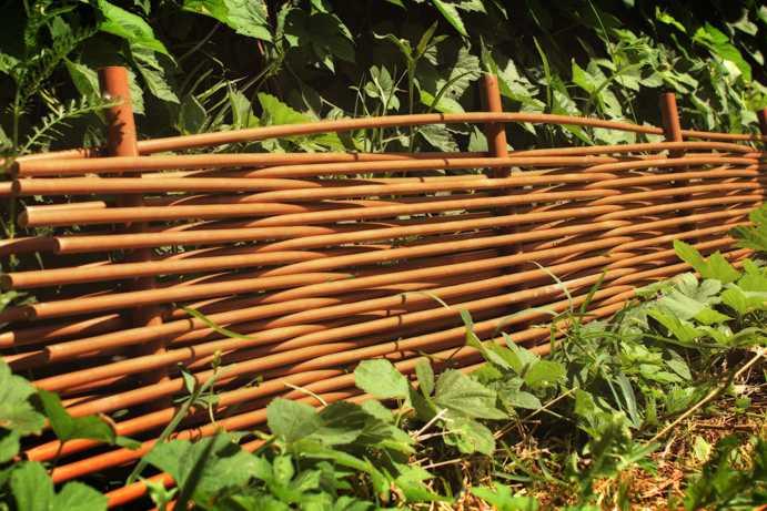 Der Zaun ist horizontal. Materialien für den Bau eines Zauns ...