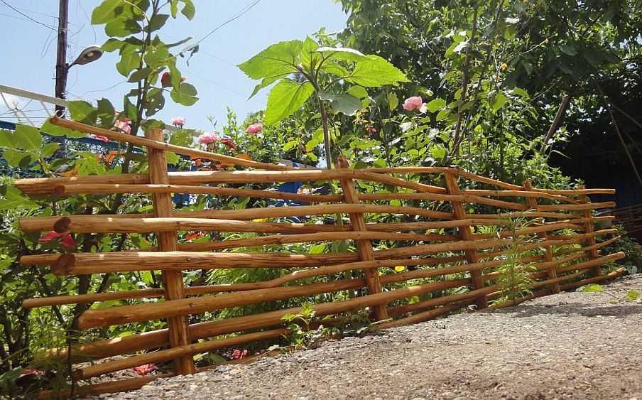Der Zaun Ist Horizontal Materialien Fur Den Bau Eines Zauns