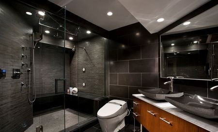 Bagni Piastrelle Nere : Piastrella per il bagno di colore nero piastrelle nere all