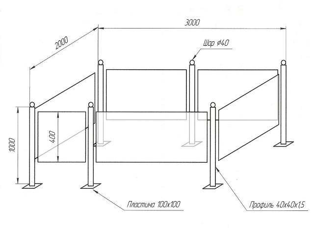 Как сделать ограды для могил 214