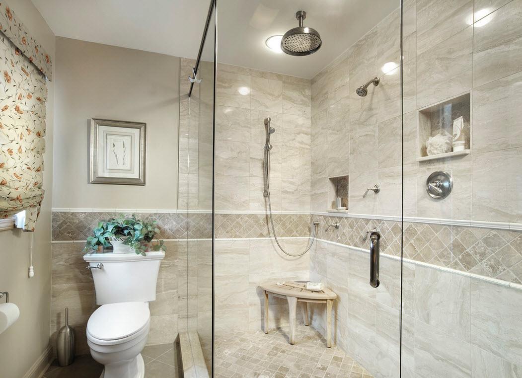 Piastrelle per pavimento nella doccia come piastrellare