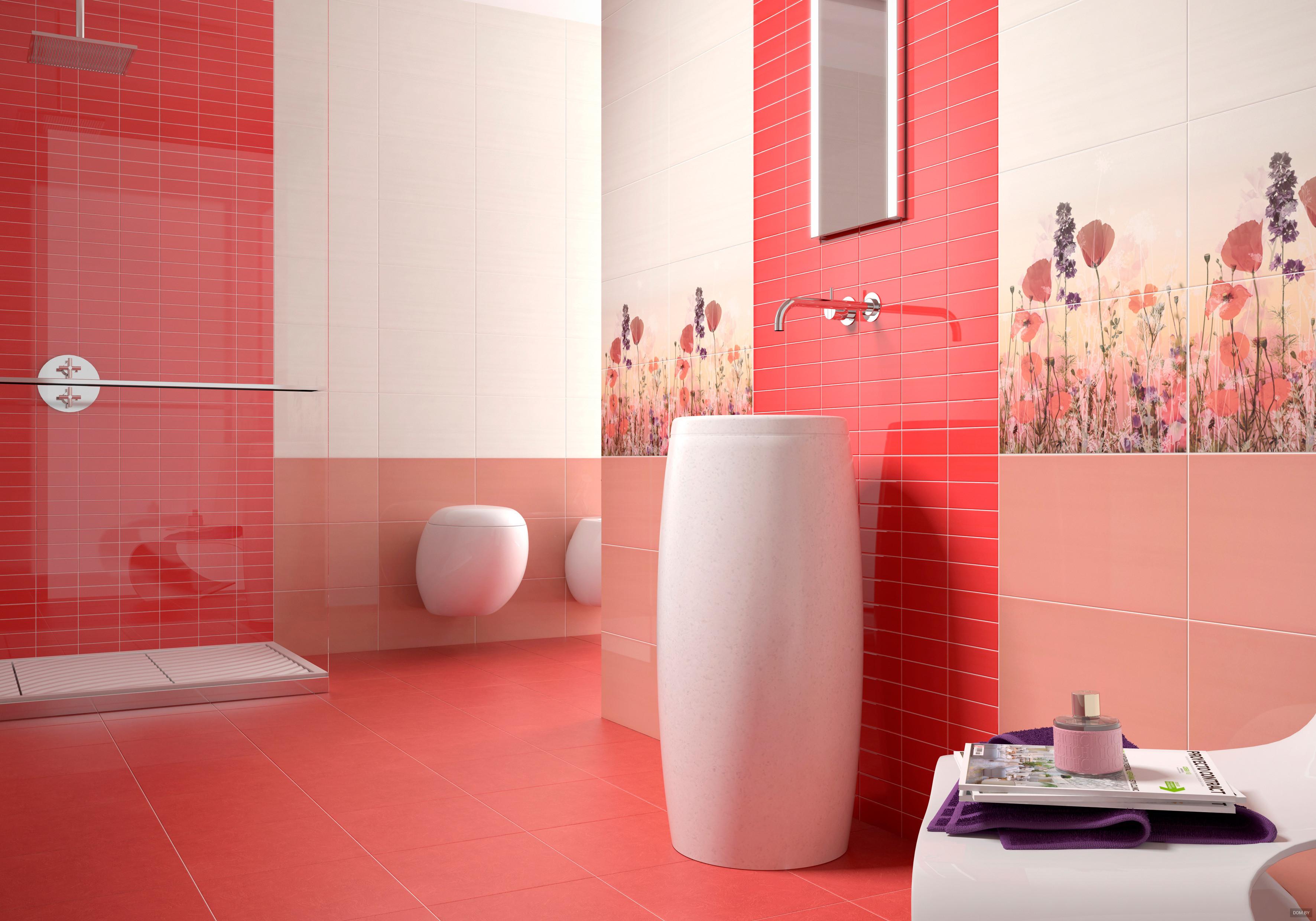 Layout di piastrelle in bagno e servizi igienici rassegna